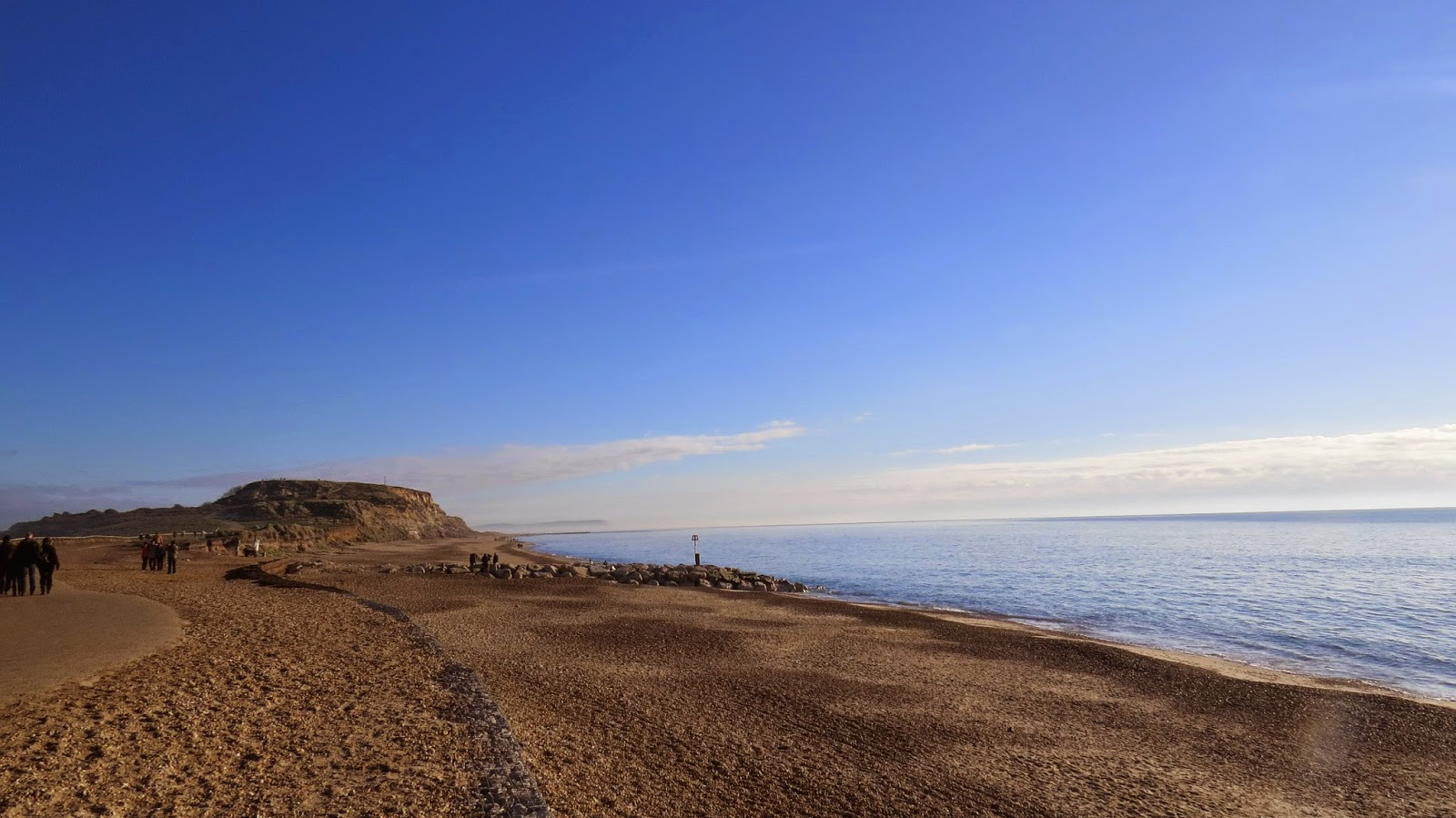 Hengistbury Head on a beautifully sunny day in December