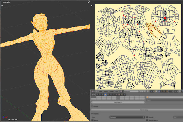 Harpia esculpida, normalmap e oclusion map