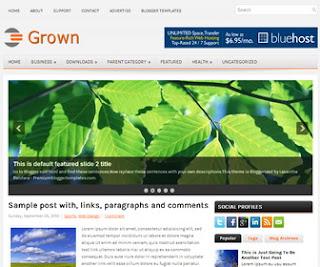 Grown-Blogger-Template