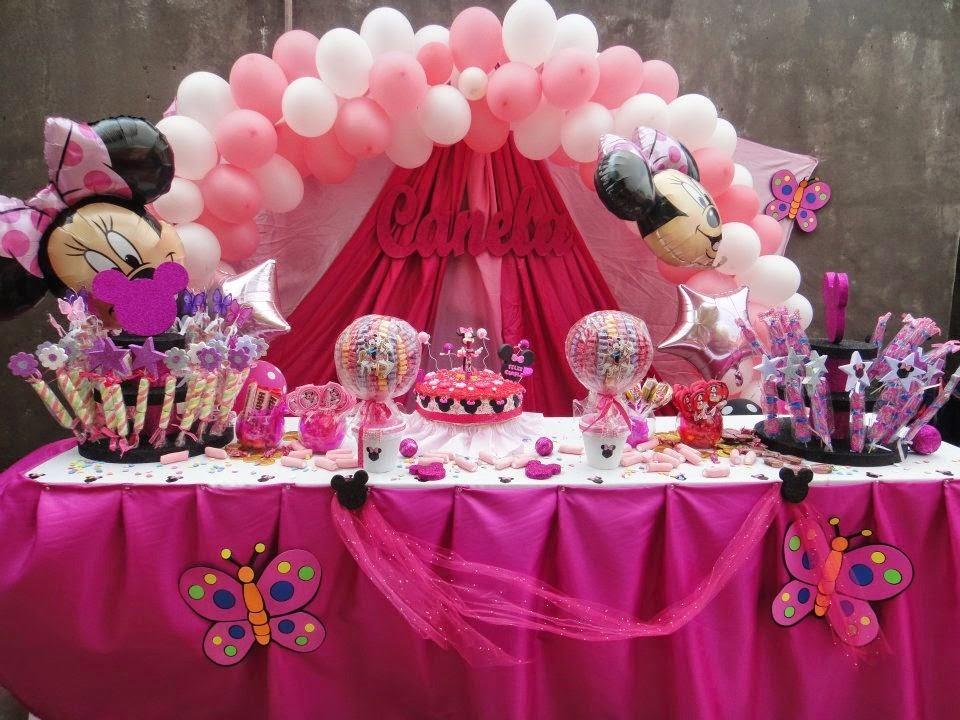 Decoracion Minnie Fucsia ~ Preciosa representaci?n de las orejas de Minnie Mouse con globos de