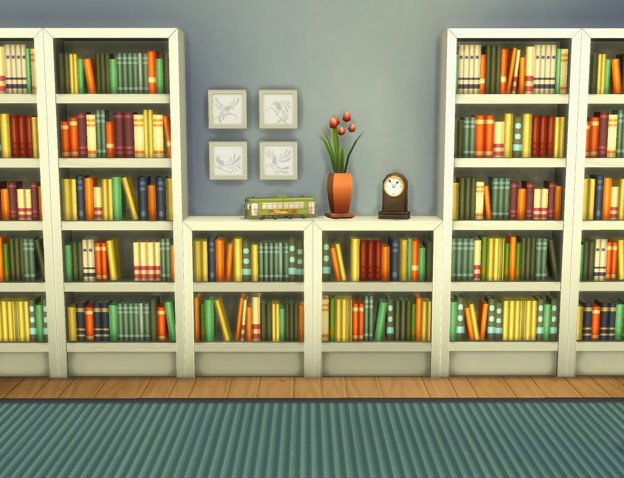 Very Impressive portraiture of My Sims 4 Blog: Moderate and Subordinate Intellect Bookcases by  with #A0692B color and 1280x980 pixels