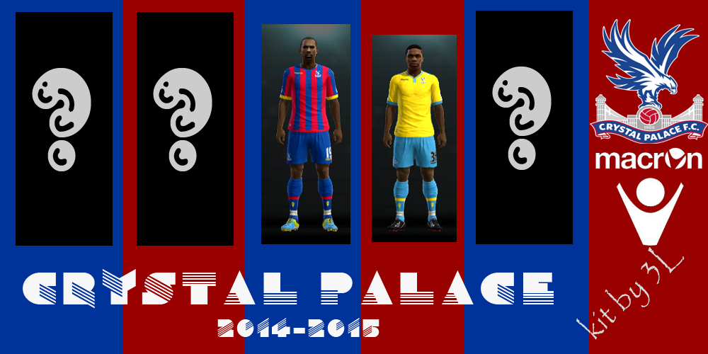 PES 2013 kit set Crystal Palace uniformes 2014/2015
