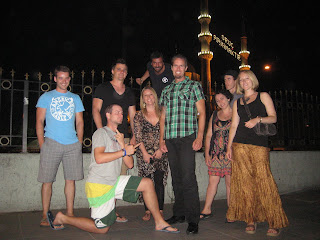 Our group in front of the New Mosque after our final dinner together on the Galata Bridge.