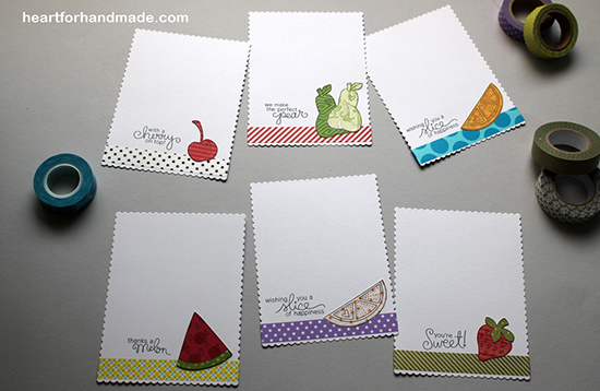 Fruit Card sets with Guest Designer Ria Montefalcon | Newton's Nook Designs | Sweet Summer