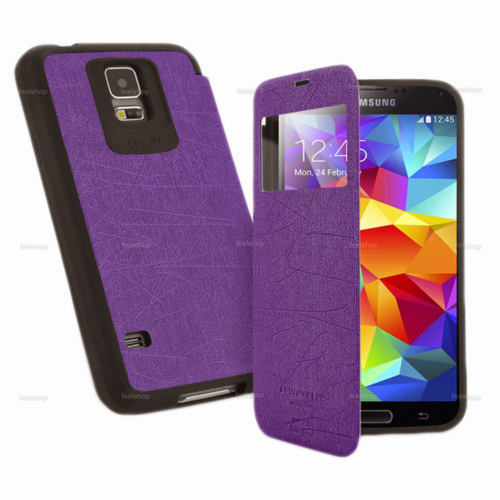 Arium Bumper View Shockproof Leather Flip Case For Samsung Galaxy Various Phones