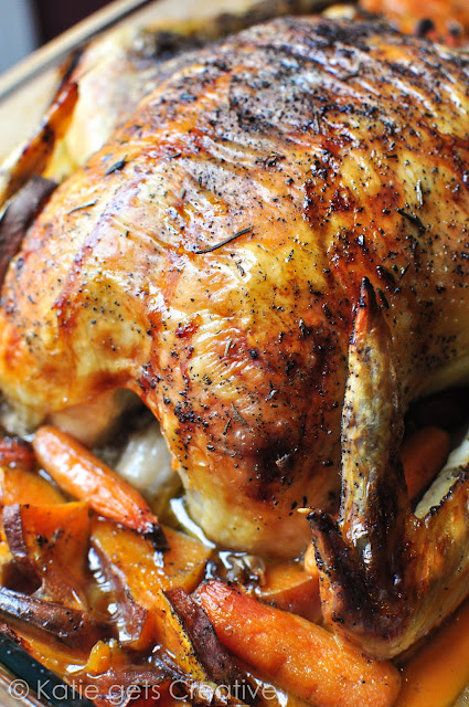 Easy Roast Chicken from Katie Gets Creative