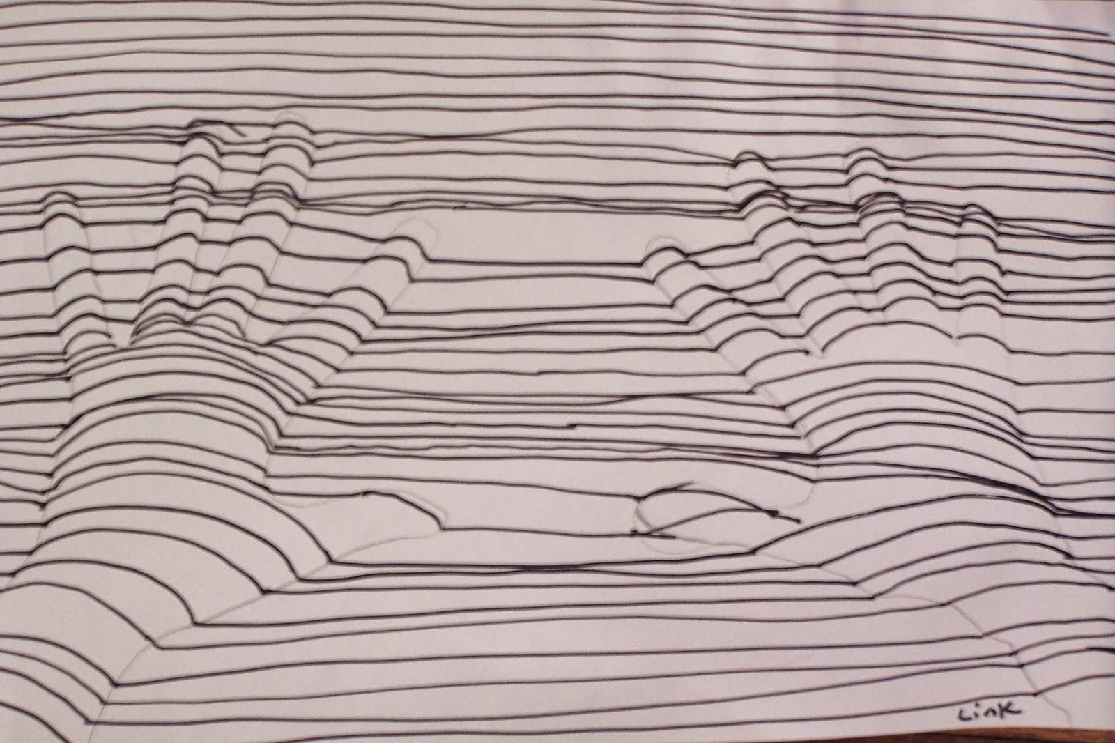 Contour Line Drawing Of A Landscape : Art teacher for hire and sculptresslink contour line