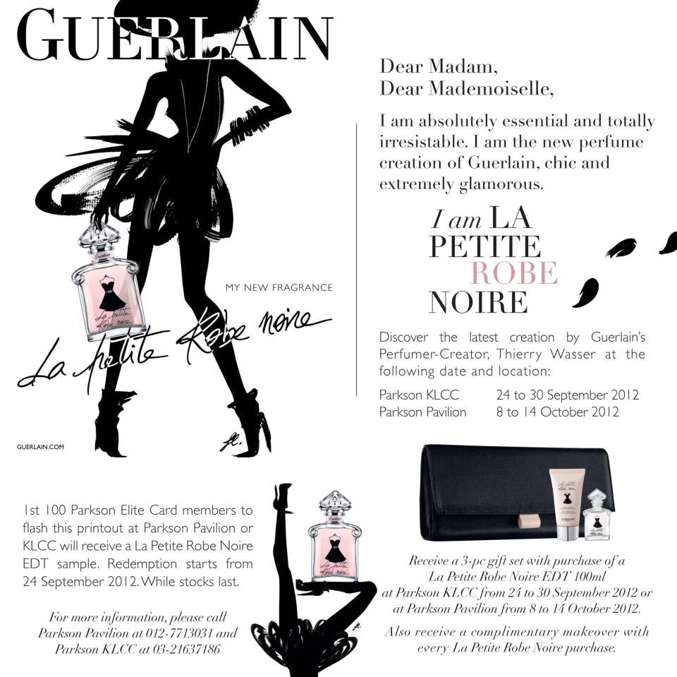 Guerlain la petite robe noire free sample