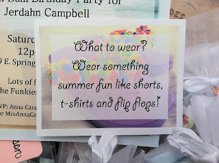 Beach Bum Birthday Party Invitation for a teenager