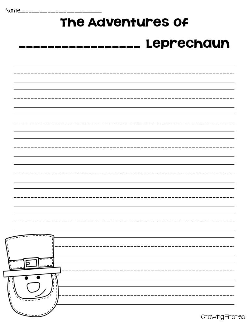 leprechaun writing paper Writing activities word family activities subtraction activities social skills activities national symbols activities comprehension activities our 'crafty leprechaun' craft is.