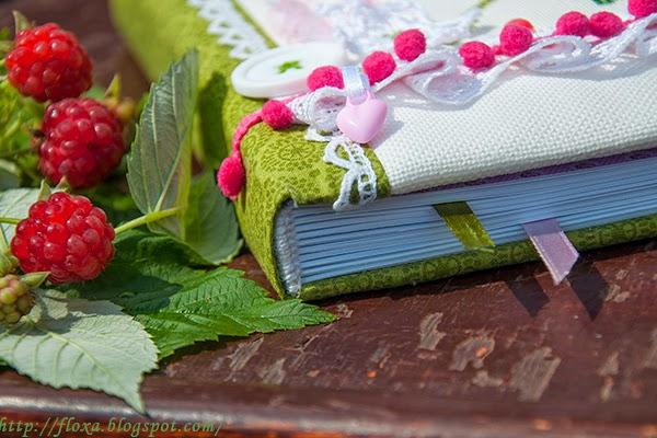 блокнот с нуля, вышивка ягоды, вышивка казуко авоки, вышивка малина, блокнот своими руками, плетение каптала, каптал своими руками, малина бисеором, вышивка бисером, вышивка крестиком малина