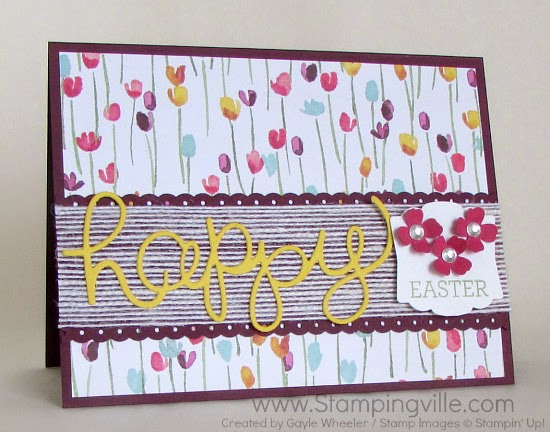 Happy Easter card using Stampin' Up! Crazy About You Bundle (stamps + dies) #cardmaking #papercrafts #stampinup #easter