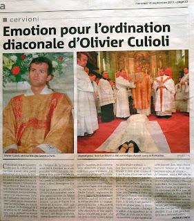 Culioli Olivier, Diaconat