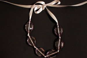 Funky Chunky Ribbon Necklace