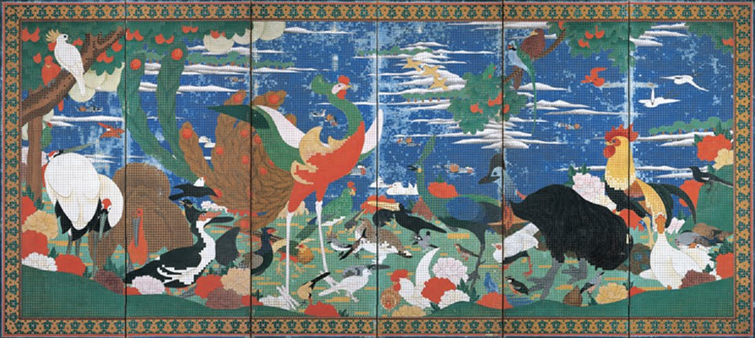 "Ito Jakuchu's Masterpiece: ""Birds, Animals, and Flowering Plants ..."