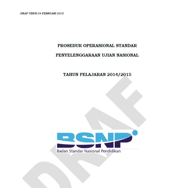 Download POS Ujian Nasional SMP/MTS/SMA/SMK Sederajat 2015 (Draf)