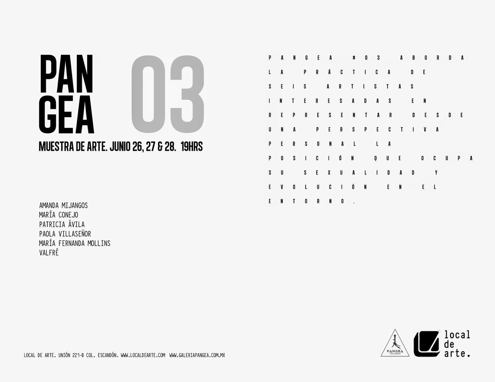 Muestra de Arte PANGEA 03 en Local de Arte