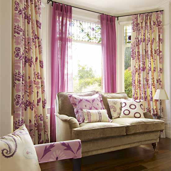 Future House Design: Window Curtain Living room Ideas