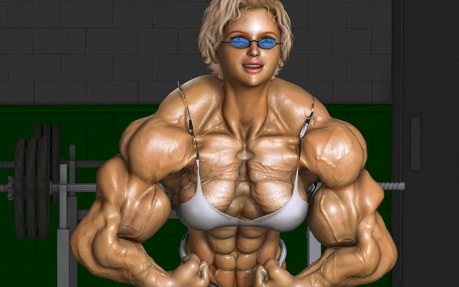 3d muscle girls sexy scene