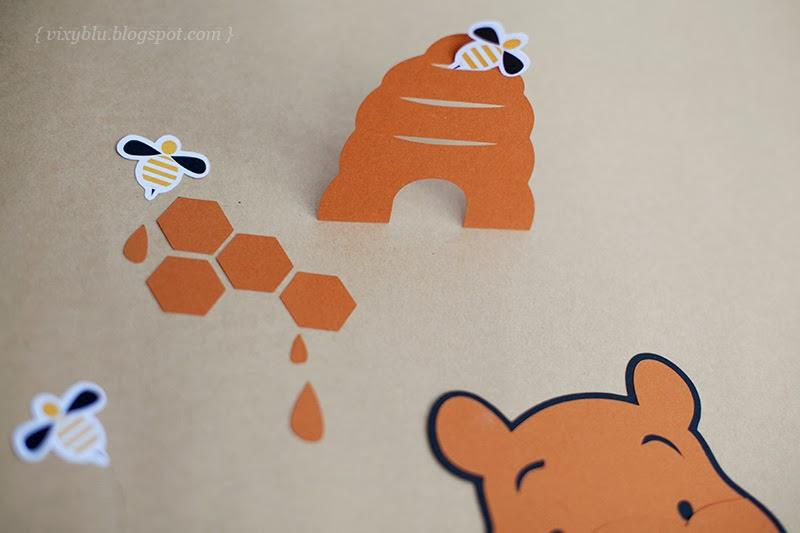 handmade Winnie the Pooh, pachet petrecere copii