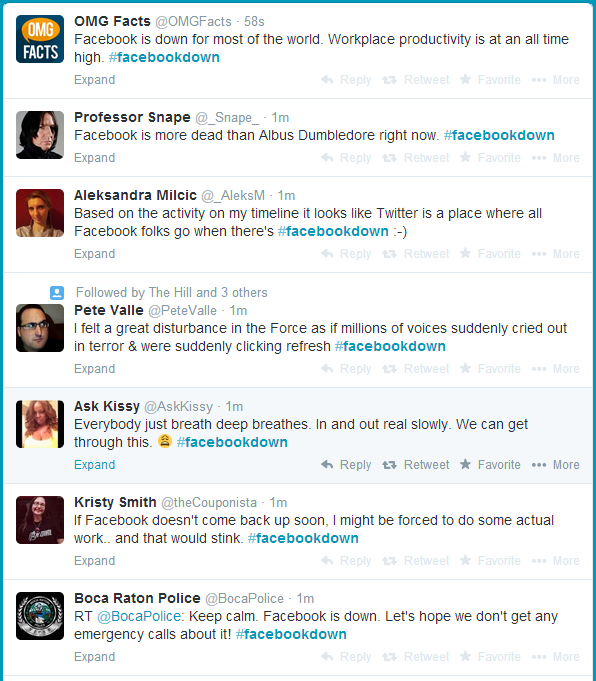 Facebook is Down #FacebookDown Tweets as of September 4, 2014 Starting 3:40 AM +08:00 UTC
