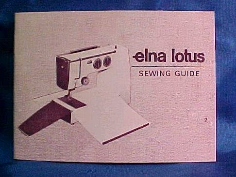 ELNA CARINA SEWING MACHINE MANUAL