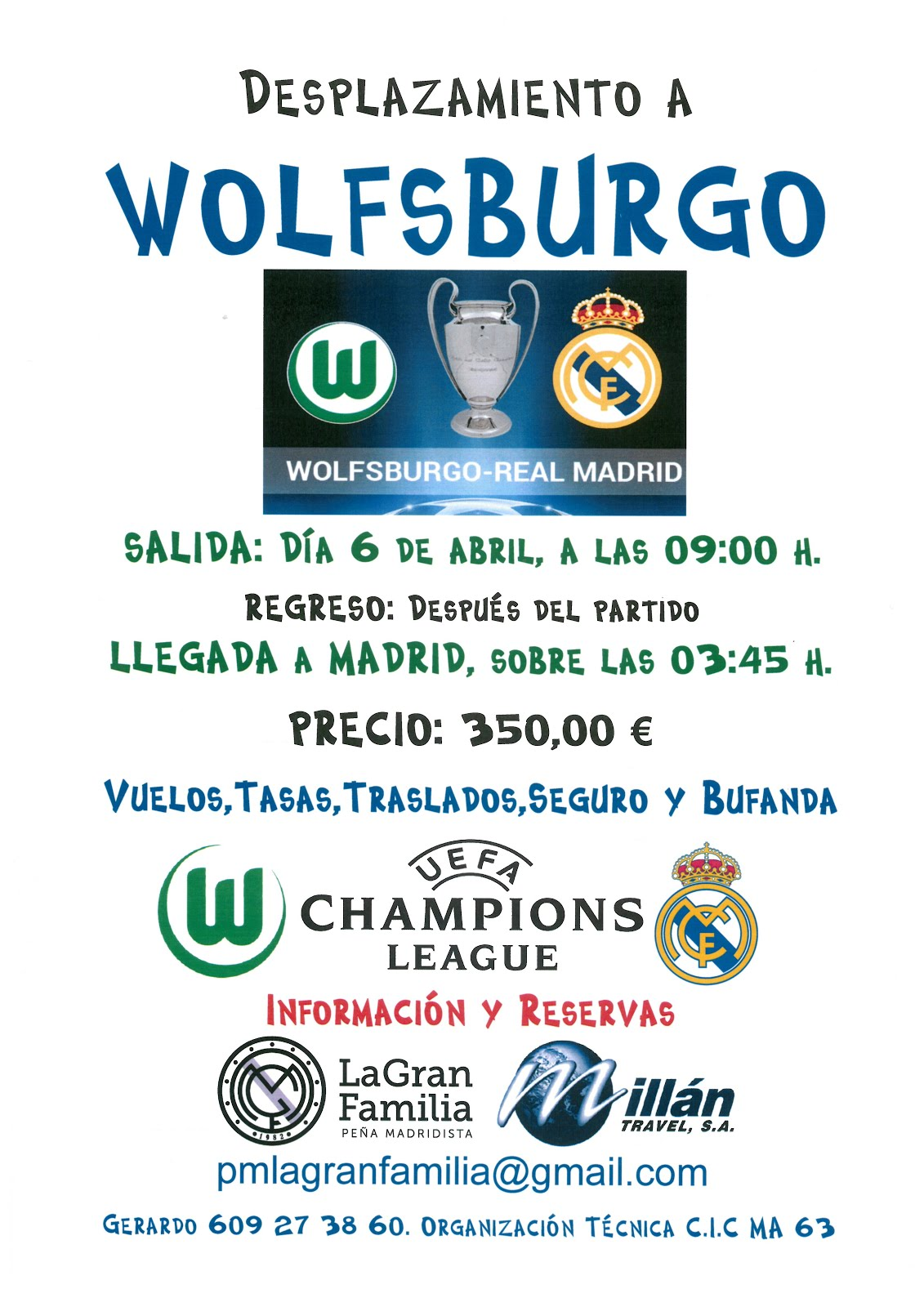 Viaje a Wolfsburgo (Champions)