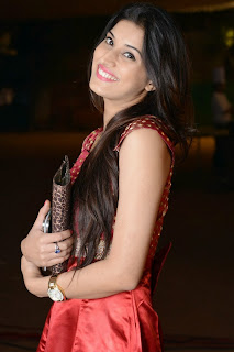 Actress Sabha Picture Gallery in Red Dress at Bunny n Cherry Audio Launch Function 0014.jpg