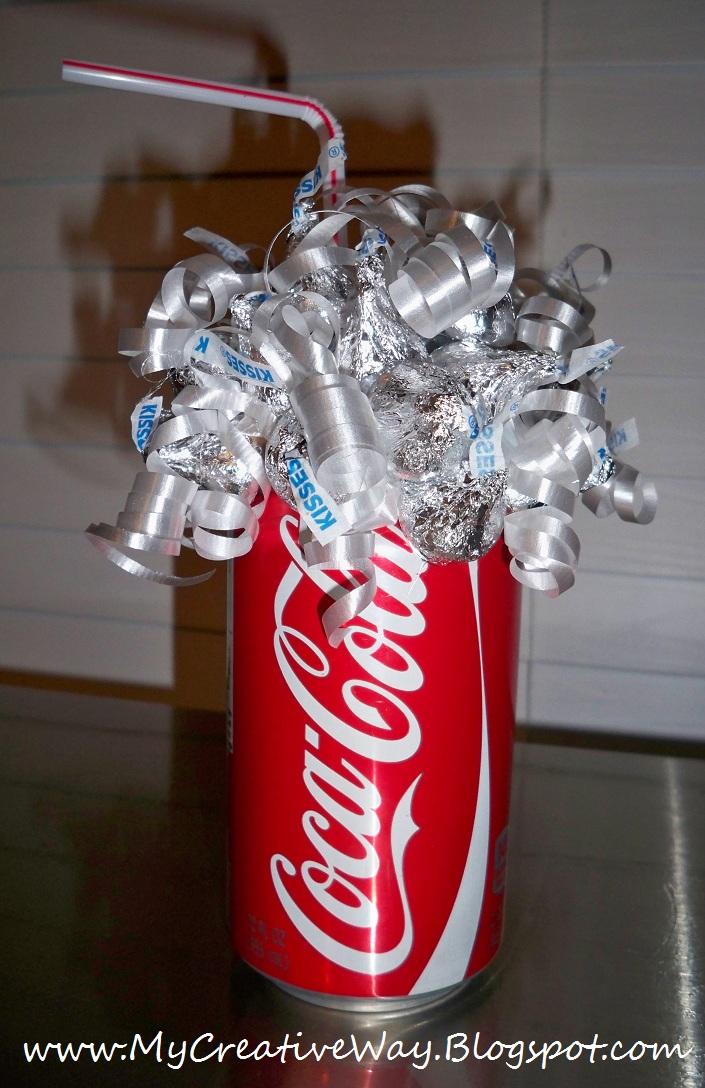 My creative way coca cola candy bouquet