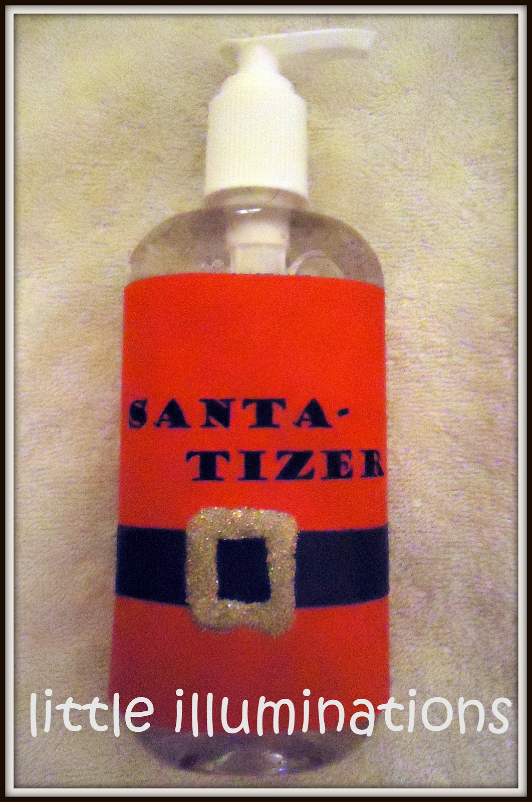 Little illuminations santa tizer a quick and easy gift for Quick easy gifts to make for christmas