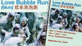 Jadi ke 'Love Buble Run' ?