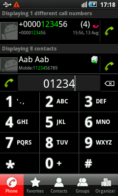 Android Contacts Dialer