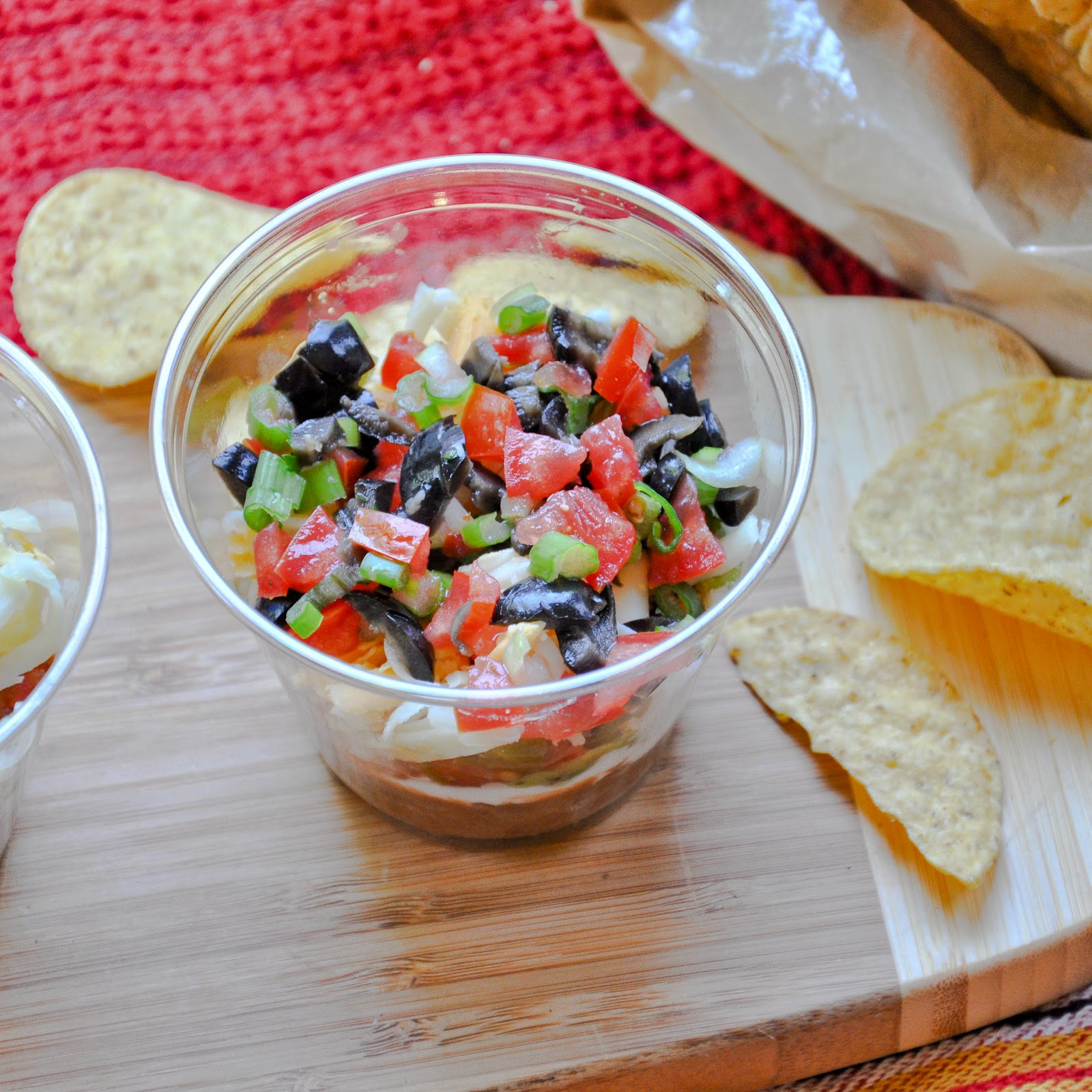 Good Thymes and Good Food: Individual Seven Layer Dip
