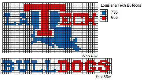 LOUISIANA TECH CROCHET PATTERN | 2000 Free Patterns