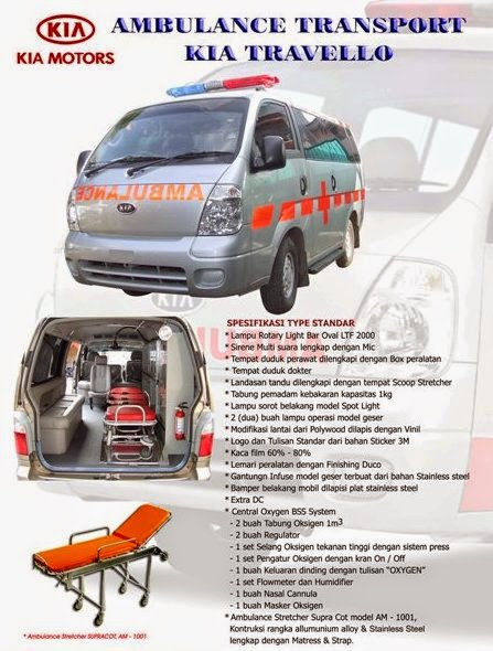 Spesifikasi KIA Travello Ambulance