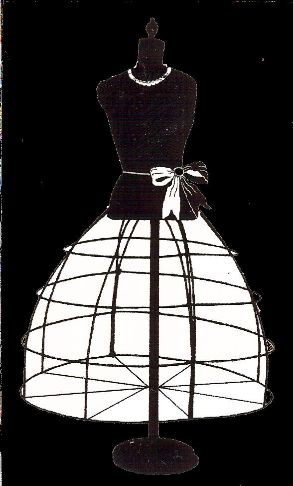 vintage dress clip art - photo #4