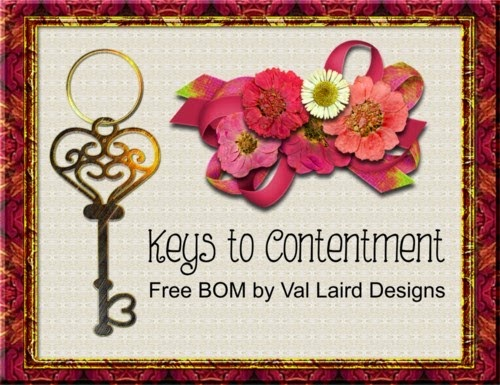 Keys to Contentment Stitching