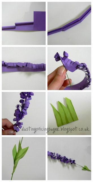 DIY paper lavenders - dustingoficingsugar.blogspot.co.uk