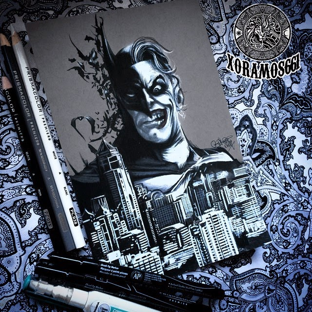 03-Joker-Batman-Ramos-Ruben-xoramos661-Photo-Real-Comic-Book-Coloured-Drawings-www-designstack-co