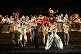 Handel's Saul at Glyndebourne - Iestyn Davies, Sophie Bevan, Benjamin Hulett & ensemble - photo Bill Cooper