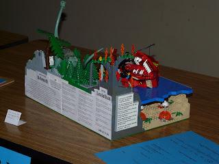 LEGO Behemoth and Leviathan scene, Creating Biblical Creations with LEGO bricks, Christian LEGO creations