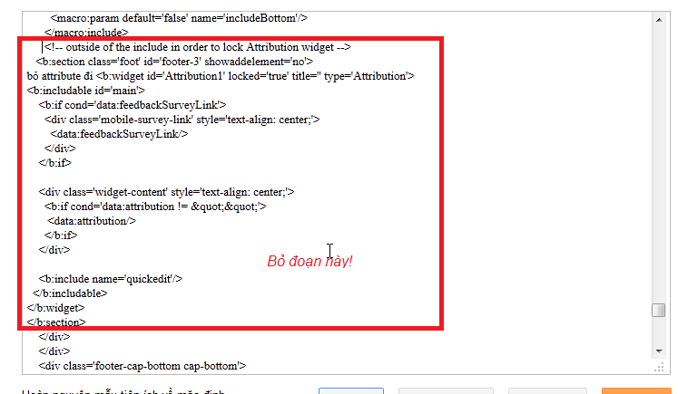 xóa code attribution trong html