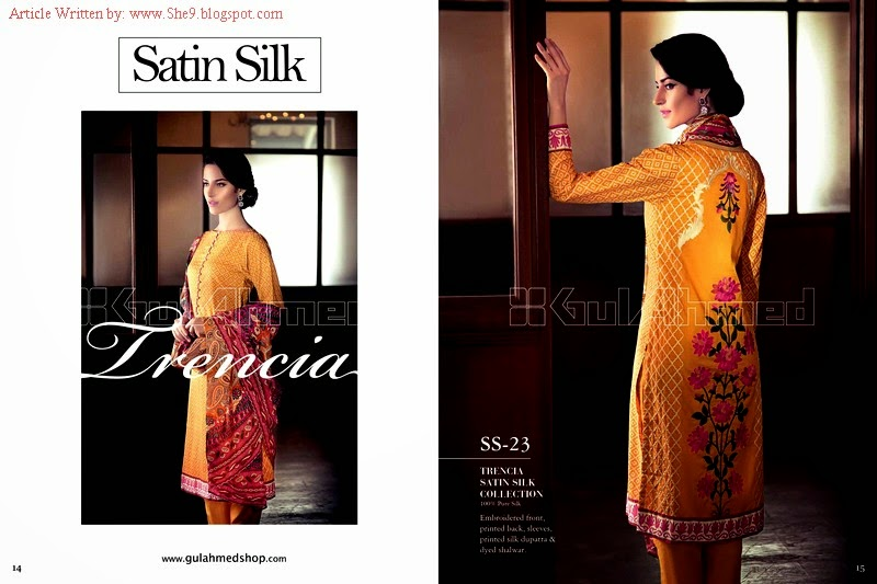 Gul Ahmed Mid-Summer Trencia Satin Silk Suits