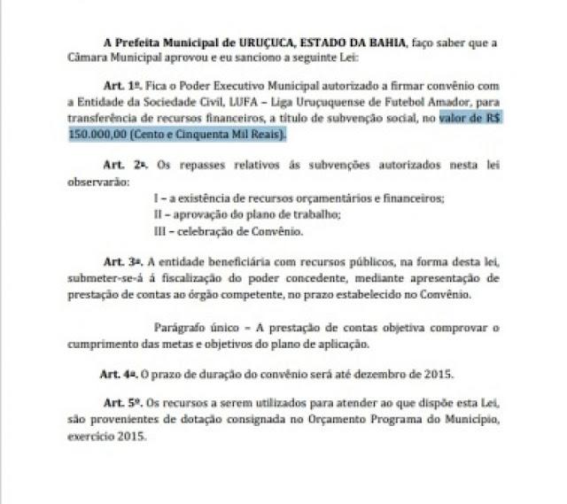 Prefeitura de Uruçuca