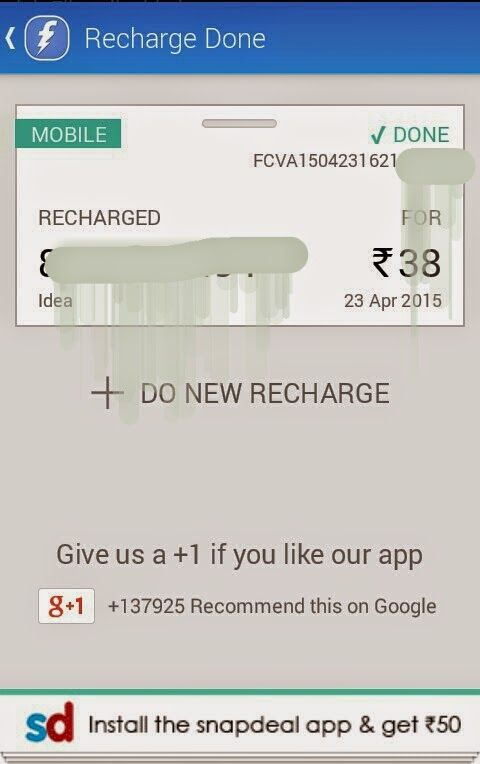 Download Snapdeal App & Earn Rs 50 FreeCharge Wallet Credits