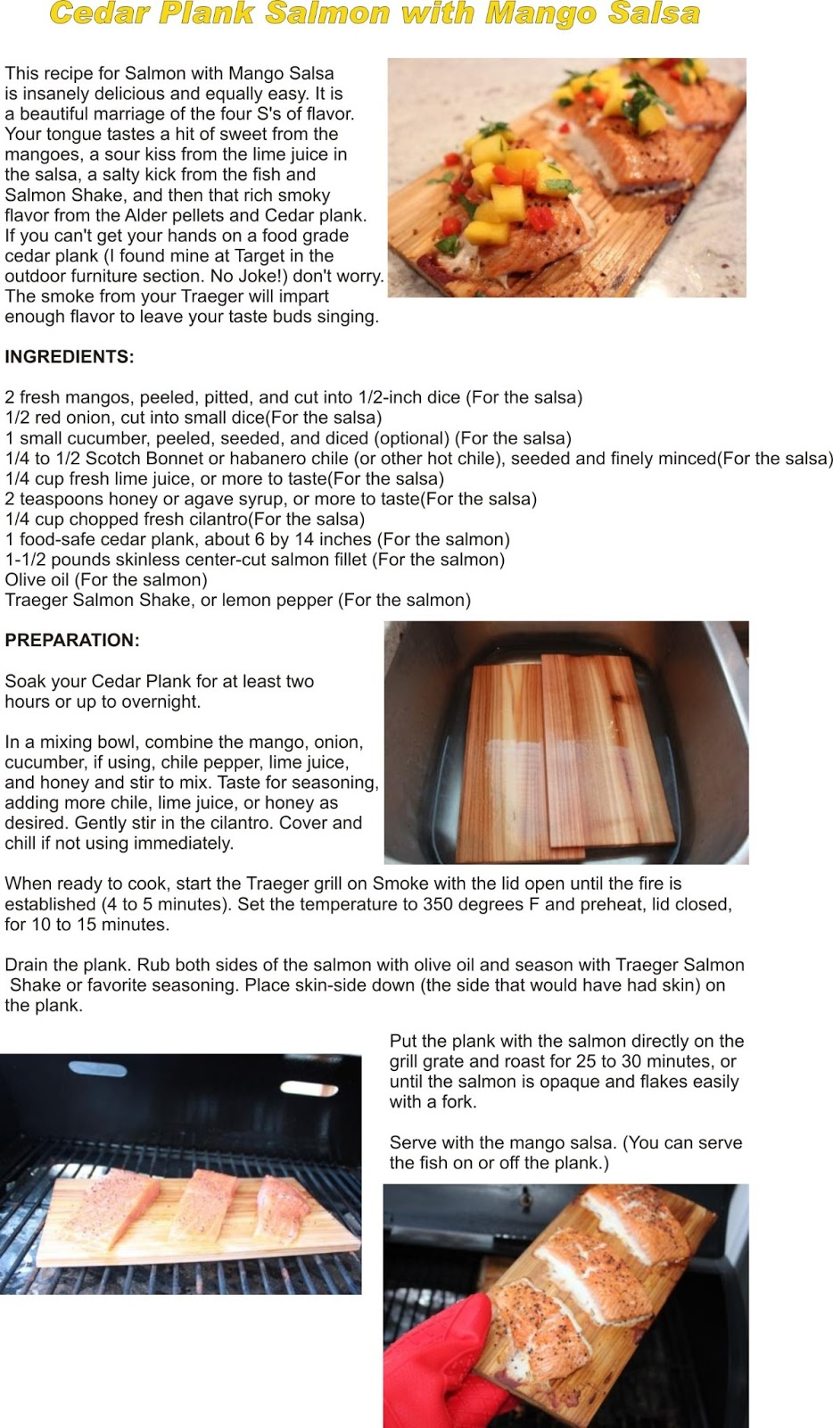 how to cook salmon on a traeger