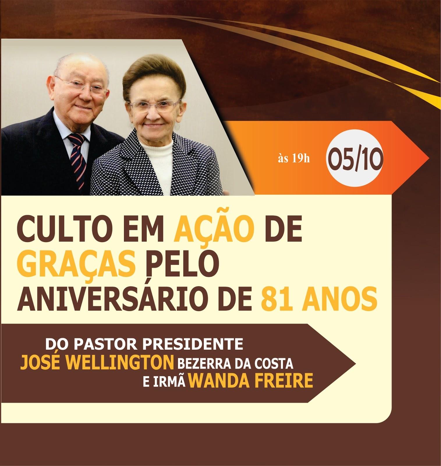 Pastor Wellington Junior Convite Aniversário Do Pastor José