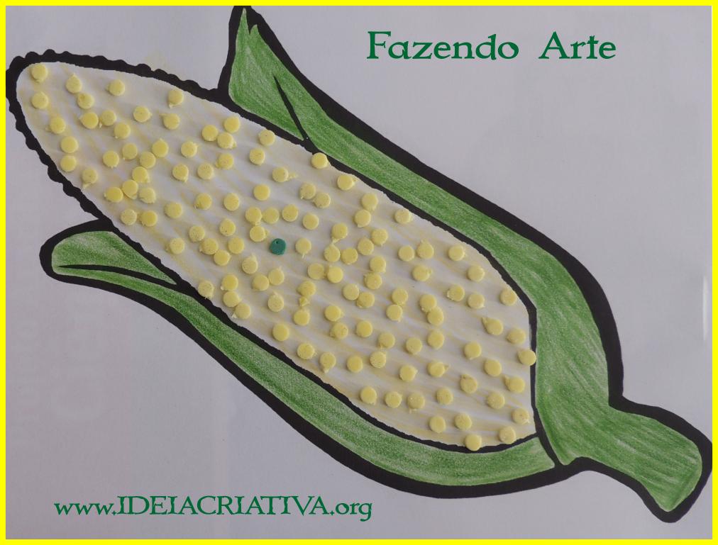 Atividade Fazendo Arte Colagem no Milho Dia do índio lenda do milho