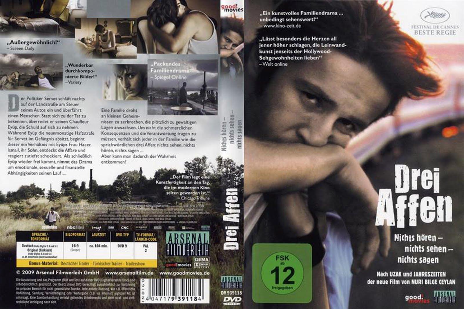 Drei Affen Three Monkeys Dvd Cover