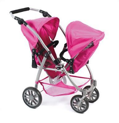 TOYS : JUGUETES - BAYER CHIC 2000  Cochecito gemelar para muñecas : VARIO  Carros y sillas de paseo | Ref. 689 87 | Comprar en Amazon España